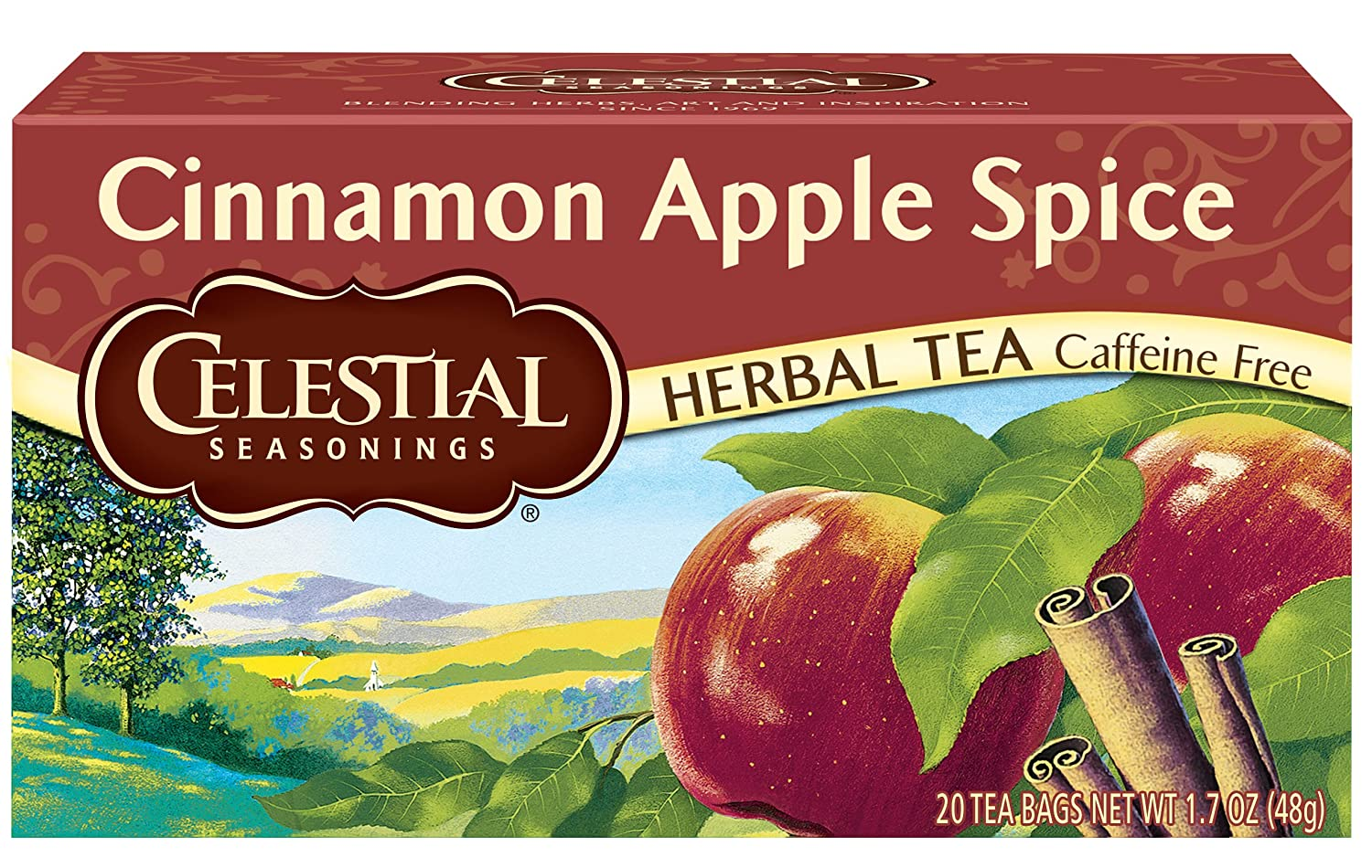 Celestial Seasonings Cinnamon Apple Spice Herbal Tea, 20 ct