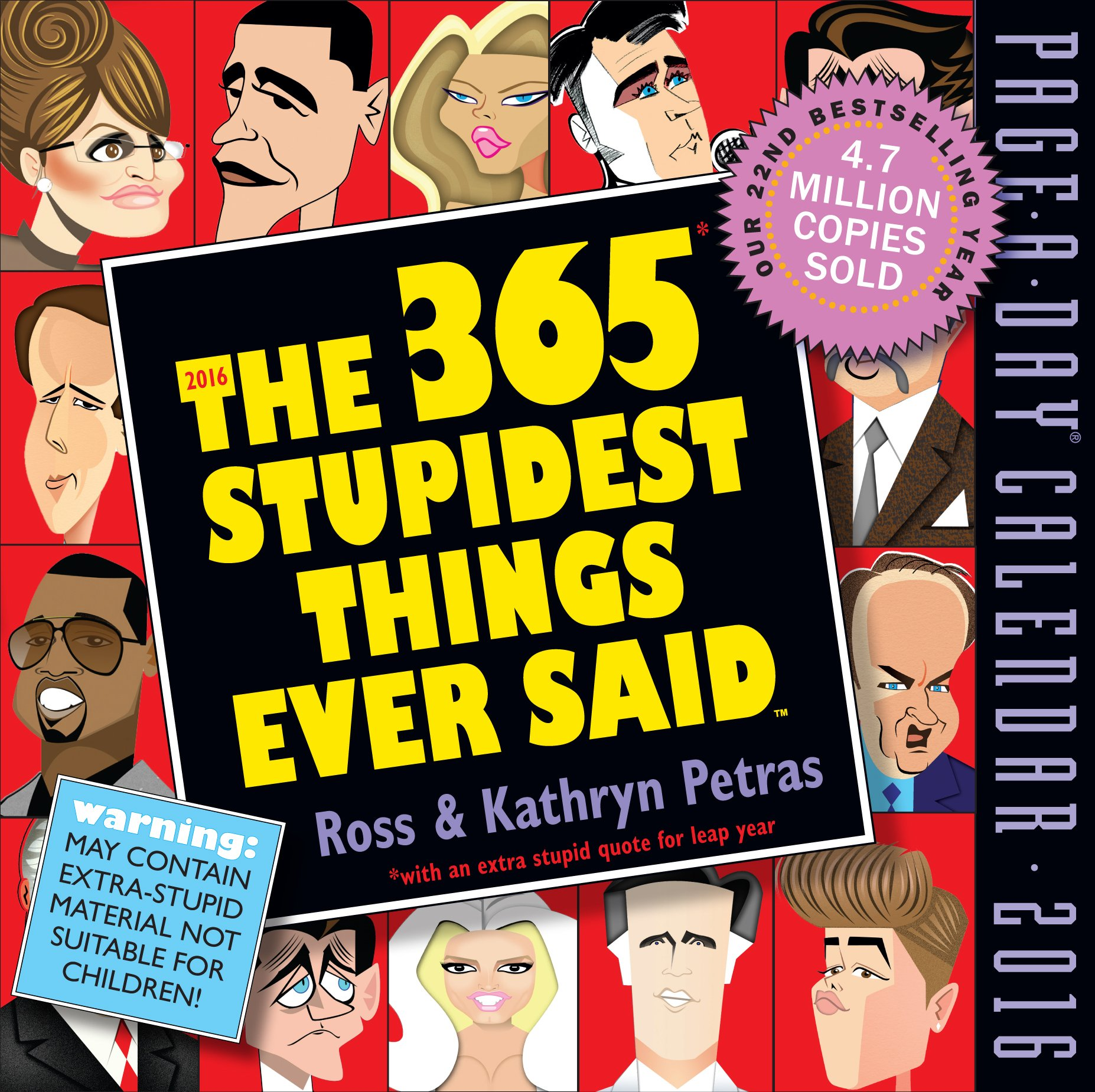 Stupidest Things Ever Page Calendar
