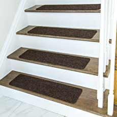 Non Slip Carpet Stair Treads + Double Sided Tape   Set Of 13 Premium Non  Skid