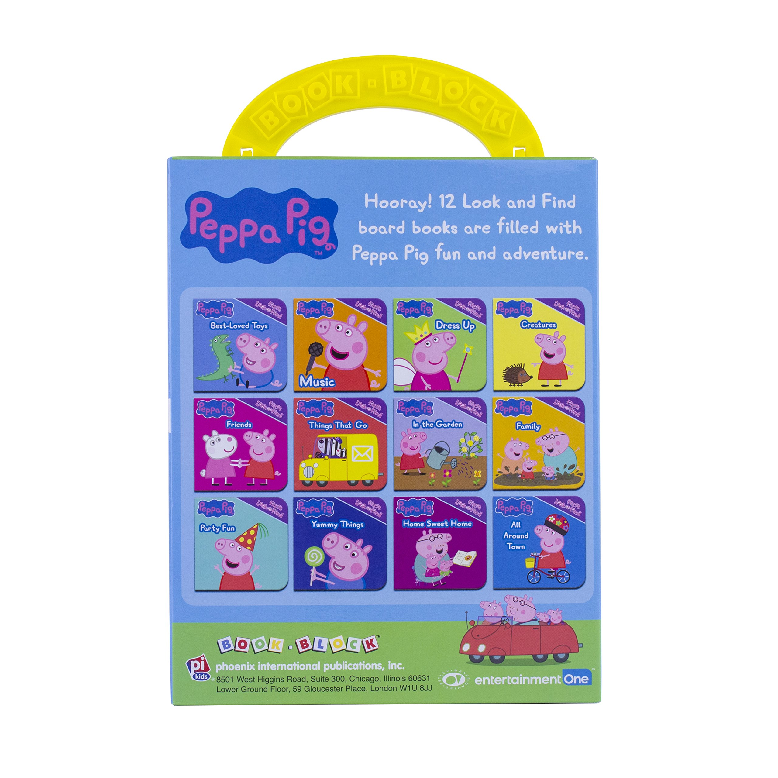 Amazon Peppa Pig My First Library 12 Board Book Set 9781503719828 From The Editors Of Phoenix International Books