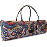 Yoga Mat Duffle Bag Patterned Canvas with Pocket and Zipper