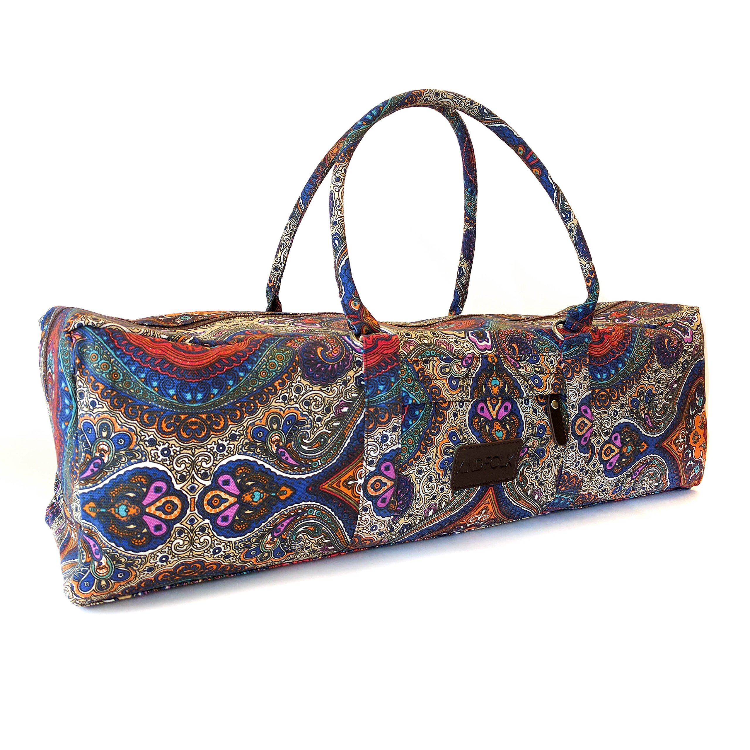98b213d068a1 Kindfolk Yoga Mat Duffle Bag Patterned Canvas with Pocket and Zipper. By  Kindfolk