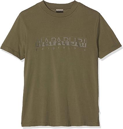 Napapijri Sevora New Olive Green Camiseta para Hombre: Amazon.es: Ropa y accesorios