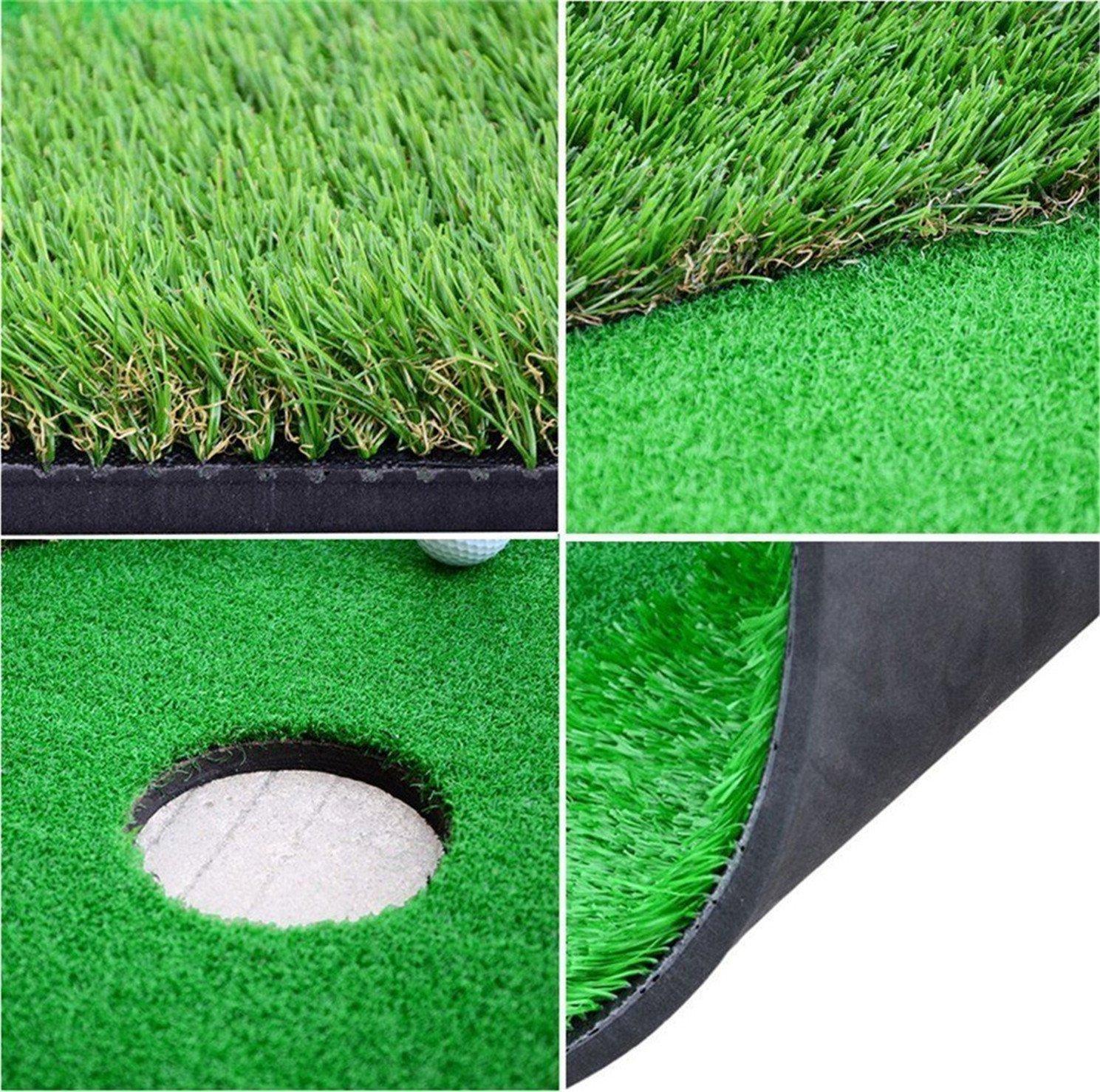77tech Large Artificial Grass Golf Putting Green Mat Indoor/Outdoor Golf Training Aid Equipment Mat (2.5ftx10ft)