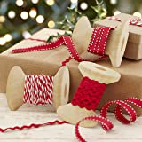 Ginger Ray Christmas Ribbons Kit For Presents with Ric Rac & Butchers Parcel Twine - Vintage Noel
