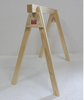 BawiTec Holzbock Bauschrage 100cm Breit x 100cm Hoch Werkstattbock Montagebock