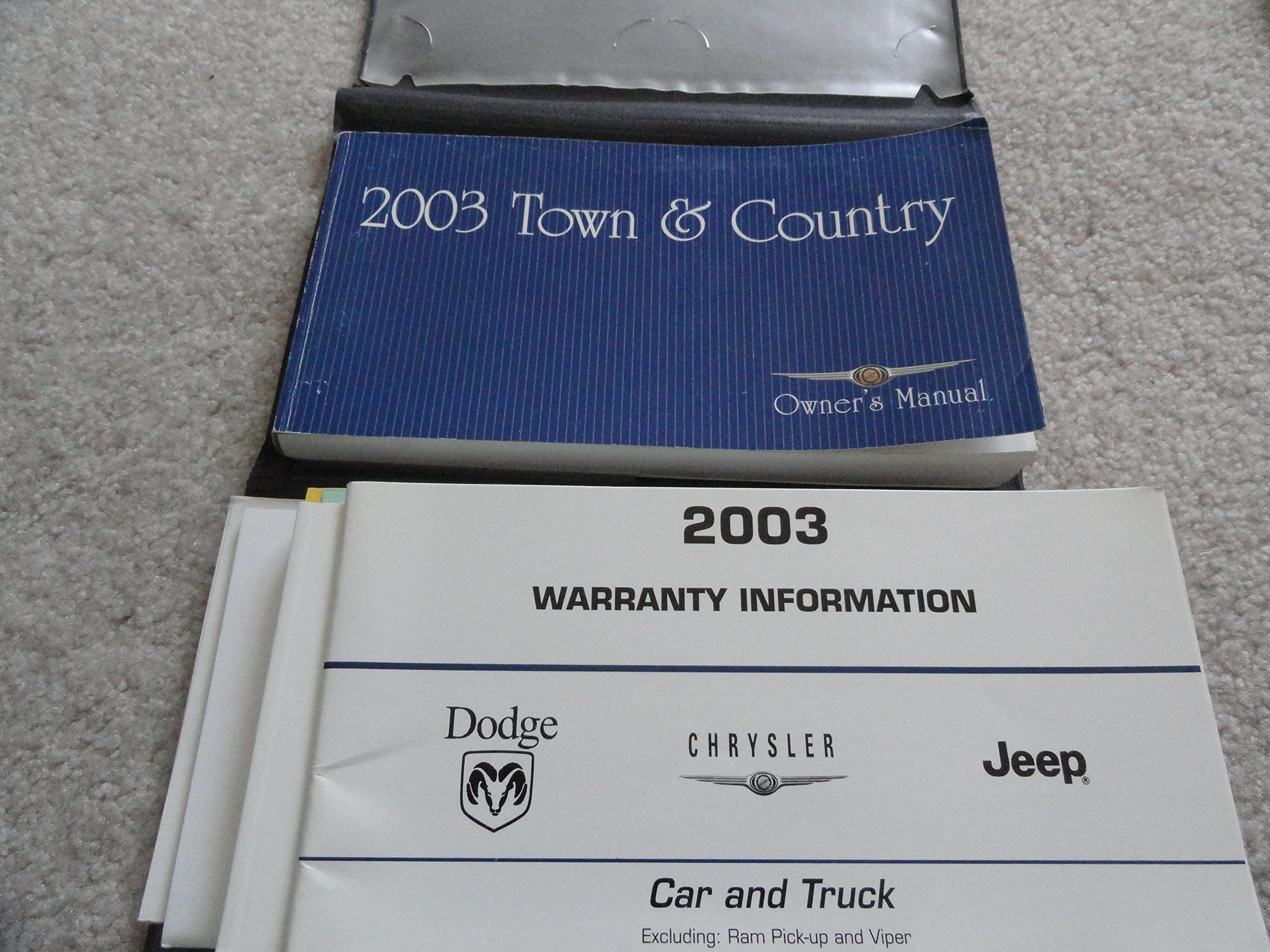 2003 Chrysler Town and Country Owners Manual: Chrysler: Amazon.com: Books