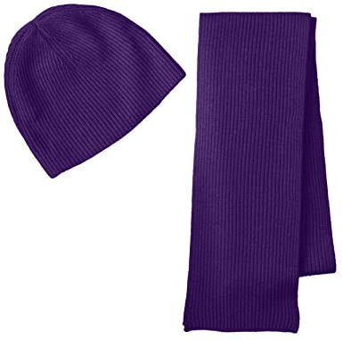 Williams Cashmere Men s Ribbed Hat and Scarf Boxed Set bb1294cf44c