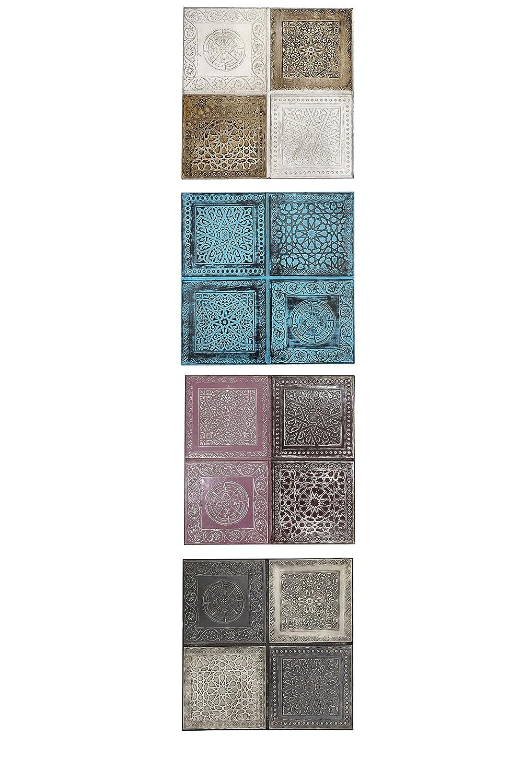 4er SET Orientalisches Wandbild Wanddeko Sahra 30cm aus Metall ...