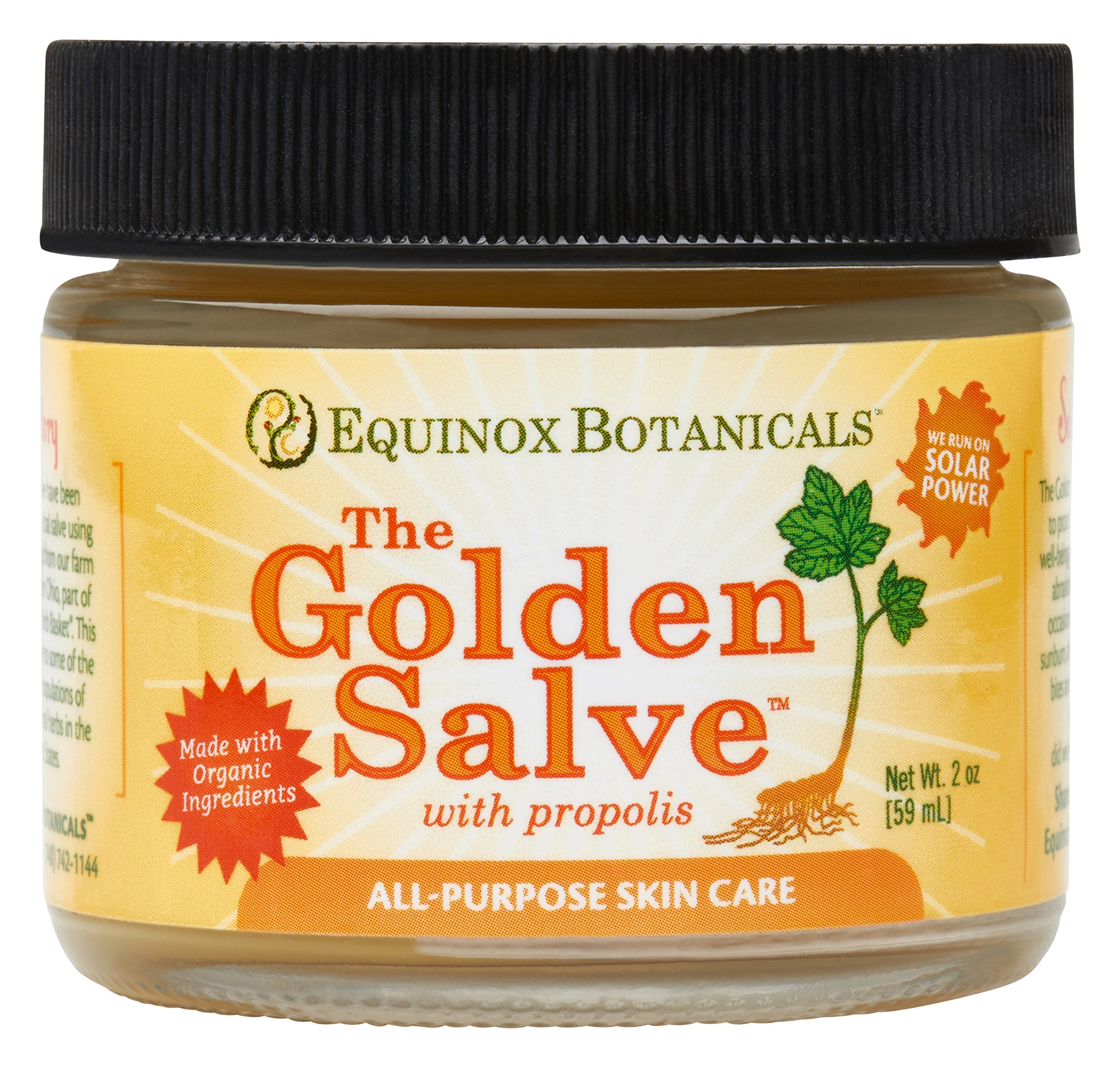 Equinox Botanicals Golden Salve With Propolis 1 Oz Gold 2 Ounce