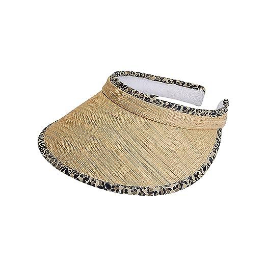 Amazon.com  MG Women Straw Clip-On Visor-8401-NATURAL  Clothing e4b695950577