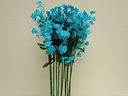Amazon phoenix silk 12 sprays ruffle baby breath filler phoenix silk 12 sprays ruffle baby breath filler artificial silk flowers 18quot stem 828 blue mightylinksfo