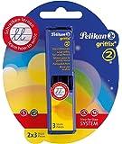 """Pelikan - Mines pour le porte-mines """"griffix"""", emBallage Blister grade de dureté: HB contenu: 2 étuis de 3 pièces chacune"""