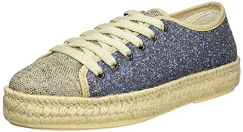 I Love Candies Laces Glitter, Alpargatas para Mujer, Azul (Blue 409), 37 EU