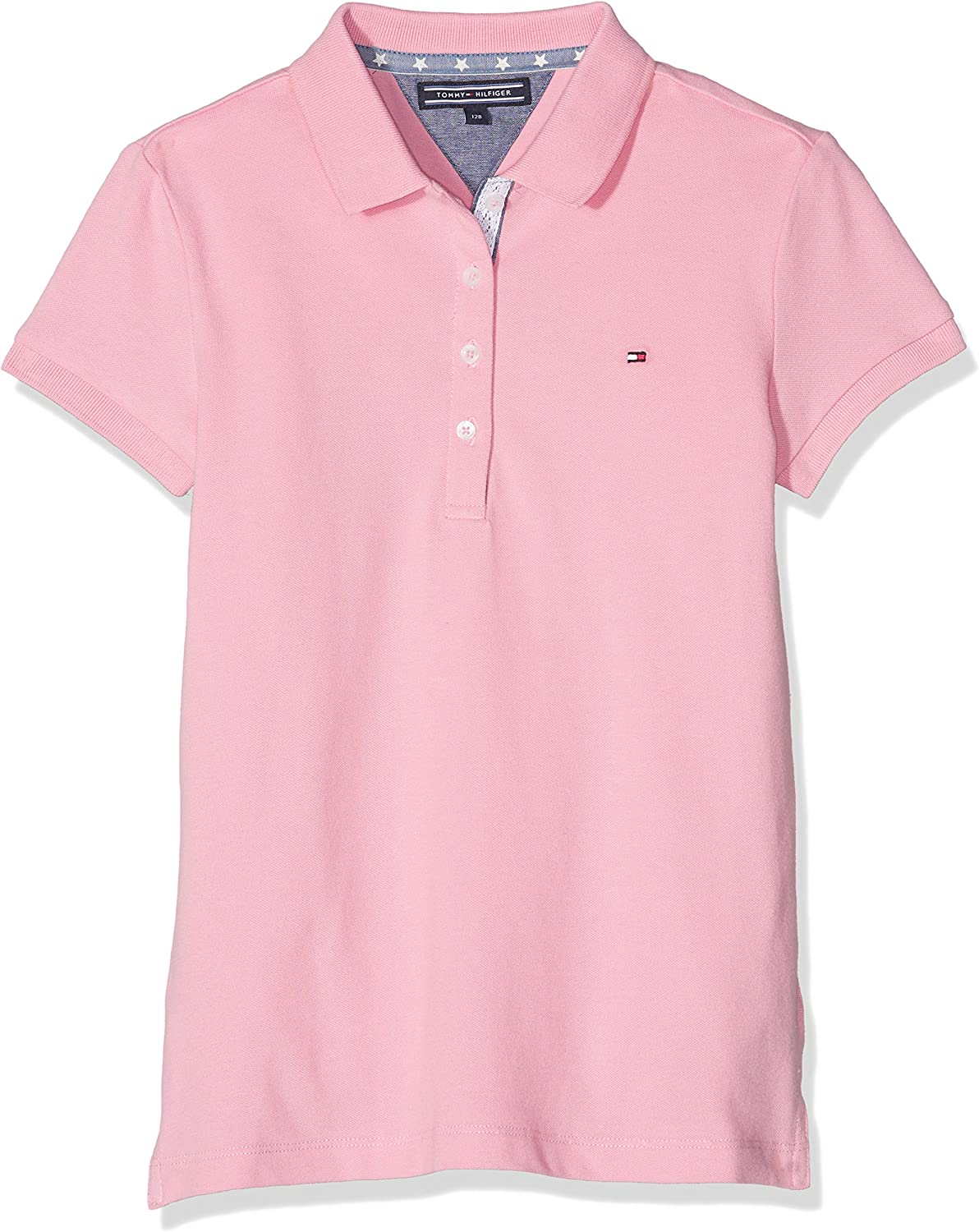 Tommy Hilfiger Girls Fitted Polo S/S suéter, Rosa (Sea Pink), 176 ...