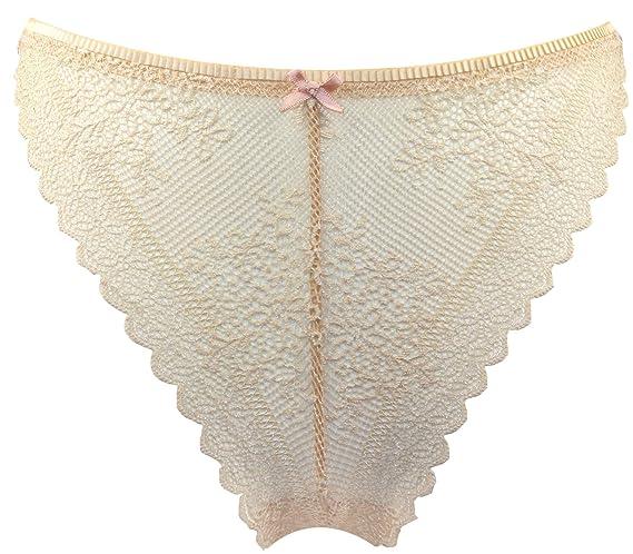 Sexy Basics Womens 3 Pack Hi Leg Brazilian Thong Lace Panties
