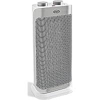 ARGO Boogie Plus Termoventilatore Ceramico a Torre, 2 Modalità di Riscaldamento Eco e Comfort, Bianco/Argento
