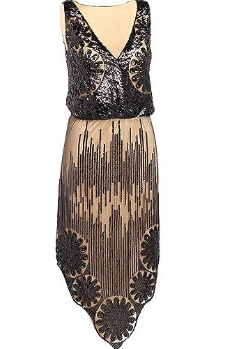 Babeyond Vestito Gatsby Donne 1920s Abiti Vestito Anni 20 Donna Flapper Dress 1920s Vestito da Sera ...