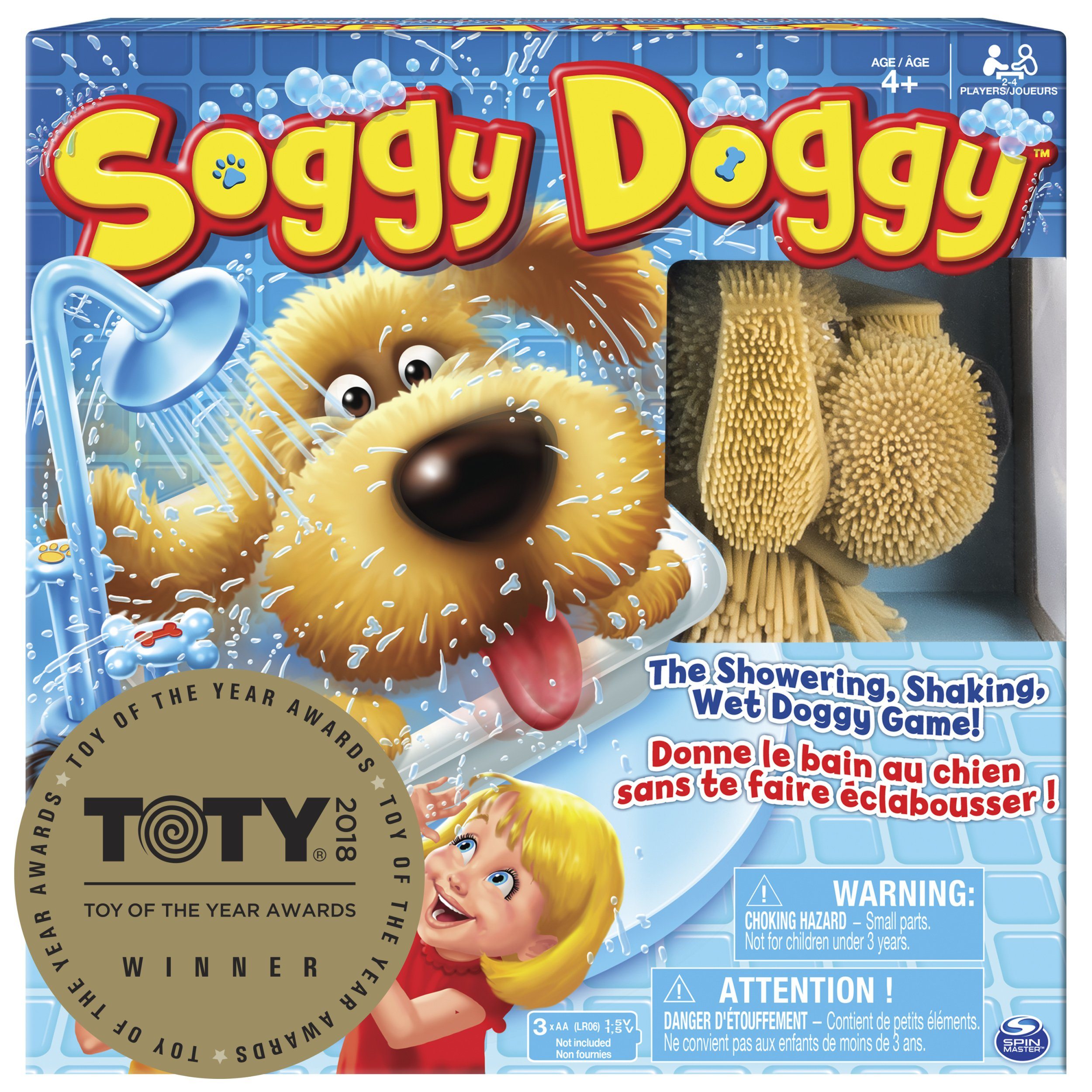 Spin Master Soggy Doggy Board Game for Kids with Interactive Dog Toy