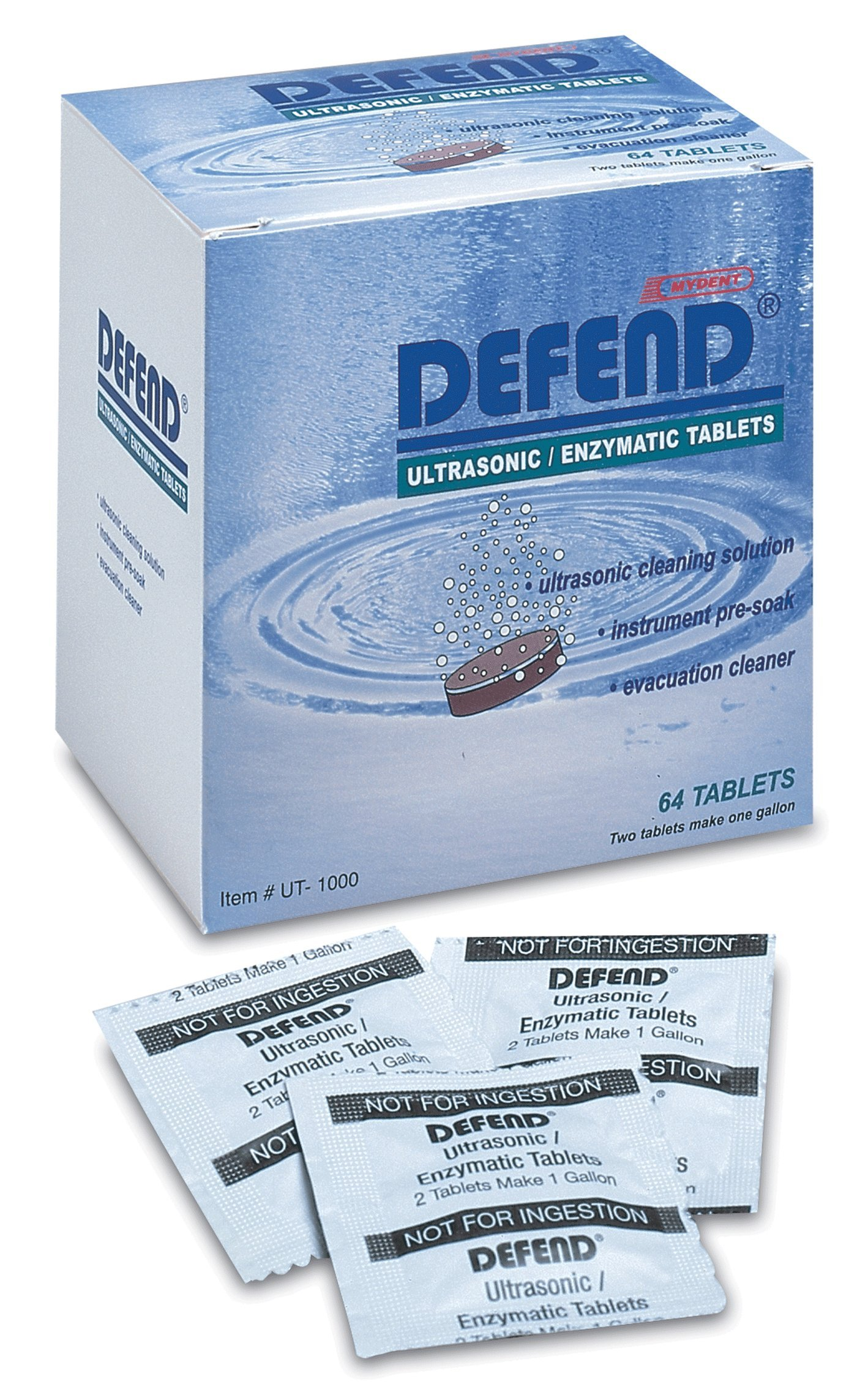 Mydent International UT1000 Defend Ultrasonic Cleaning Tabs 64/Bx by Mydent International