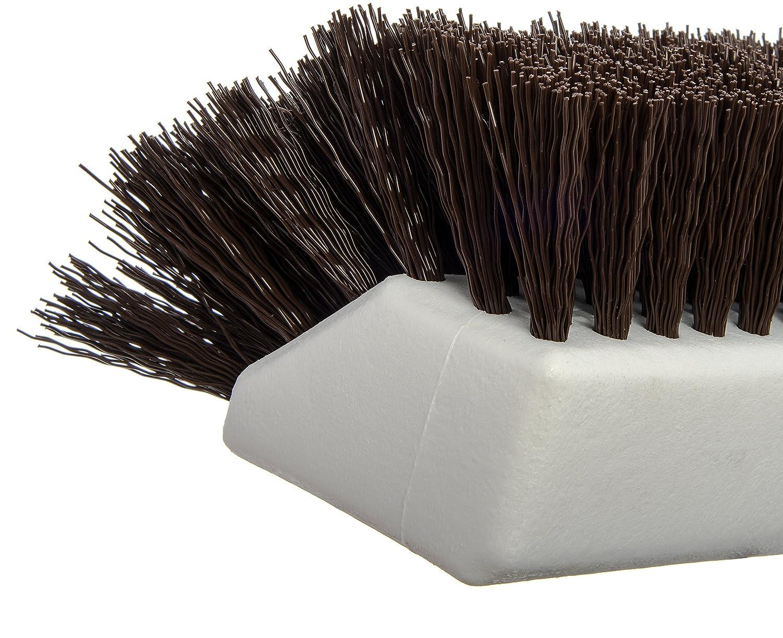 Orange Carlisle FoodService Products Carlisle 4042324 Hi-Lo Floor Scrub Brush Pack of 12