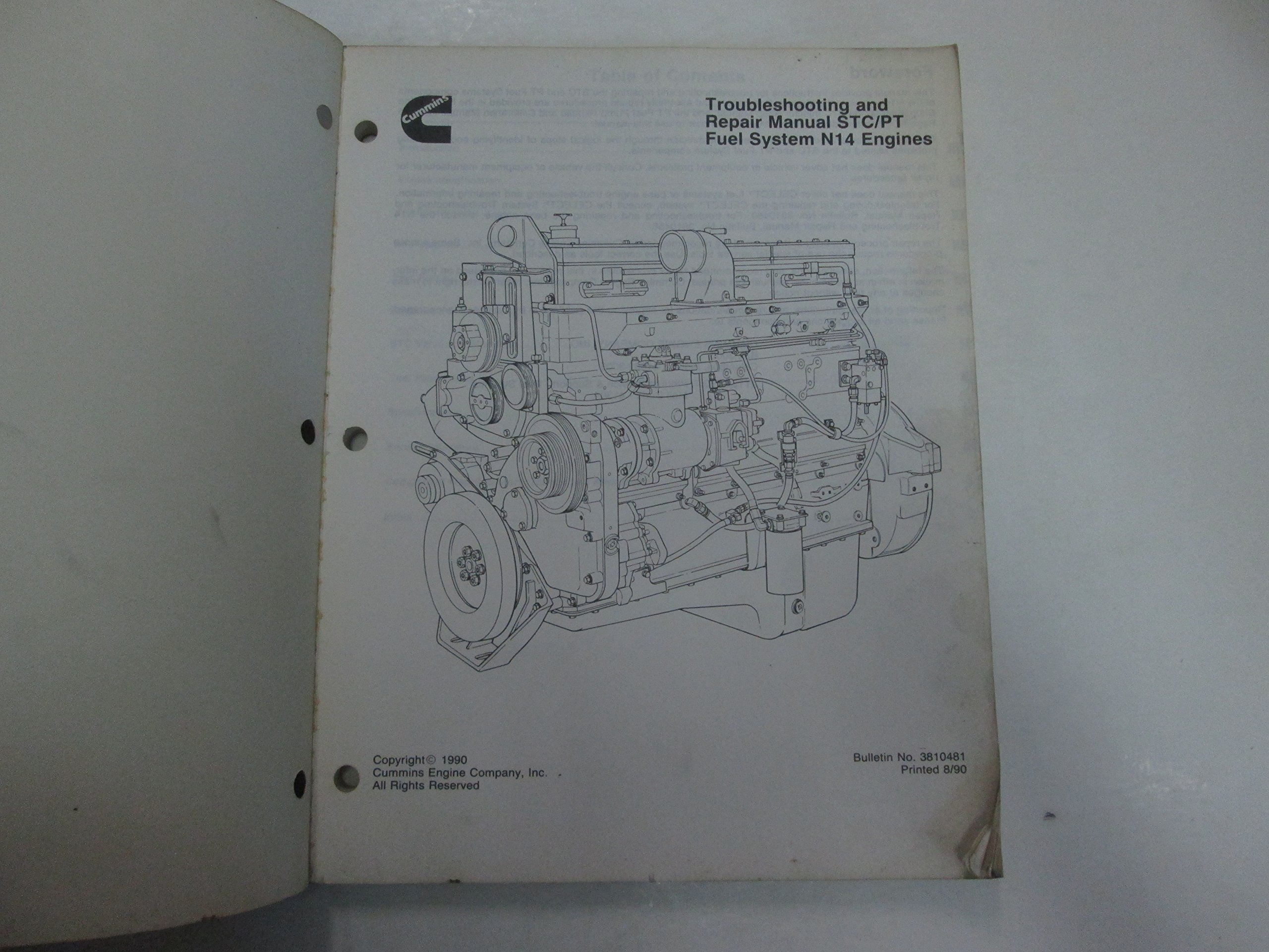 Stupendous 1990 Cummins Troubleshooting Repair Manual Stc Pt Fuel System N14 Wiring 101 Mecadwellnesstrialsorg
