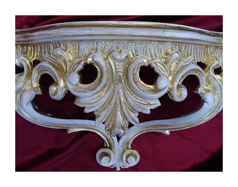 Mobiliar & Interieur Wandkonsole Antik Ablage Regal Barockkonsole Gold Konsole Rokoko Hängekonsole Konsolen