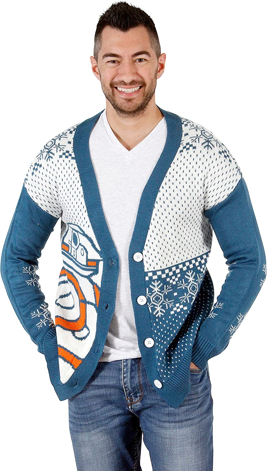 Star Wars BB8 Droid Ugly Christmas Cardigan Sweater