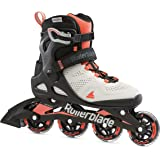 Rollerblade Macroblade 80 Women's Adult Fitness Inline Skate, Grey and Coral, Performance Inline Skates