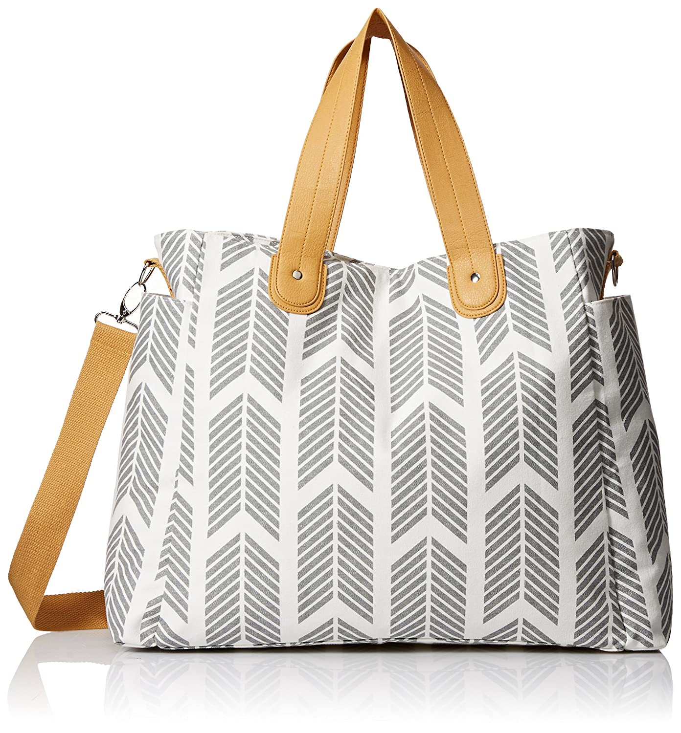 Arrows Weekender Bag by White Elm - Large Diaper Tote Bag WEBGRW