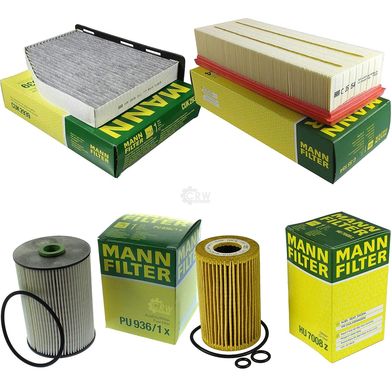 MANN-FILTER Inspektions Set Inspektionspaket Luftfilter /Ölfilter Innenraumfilter Kraftstofffilter