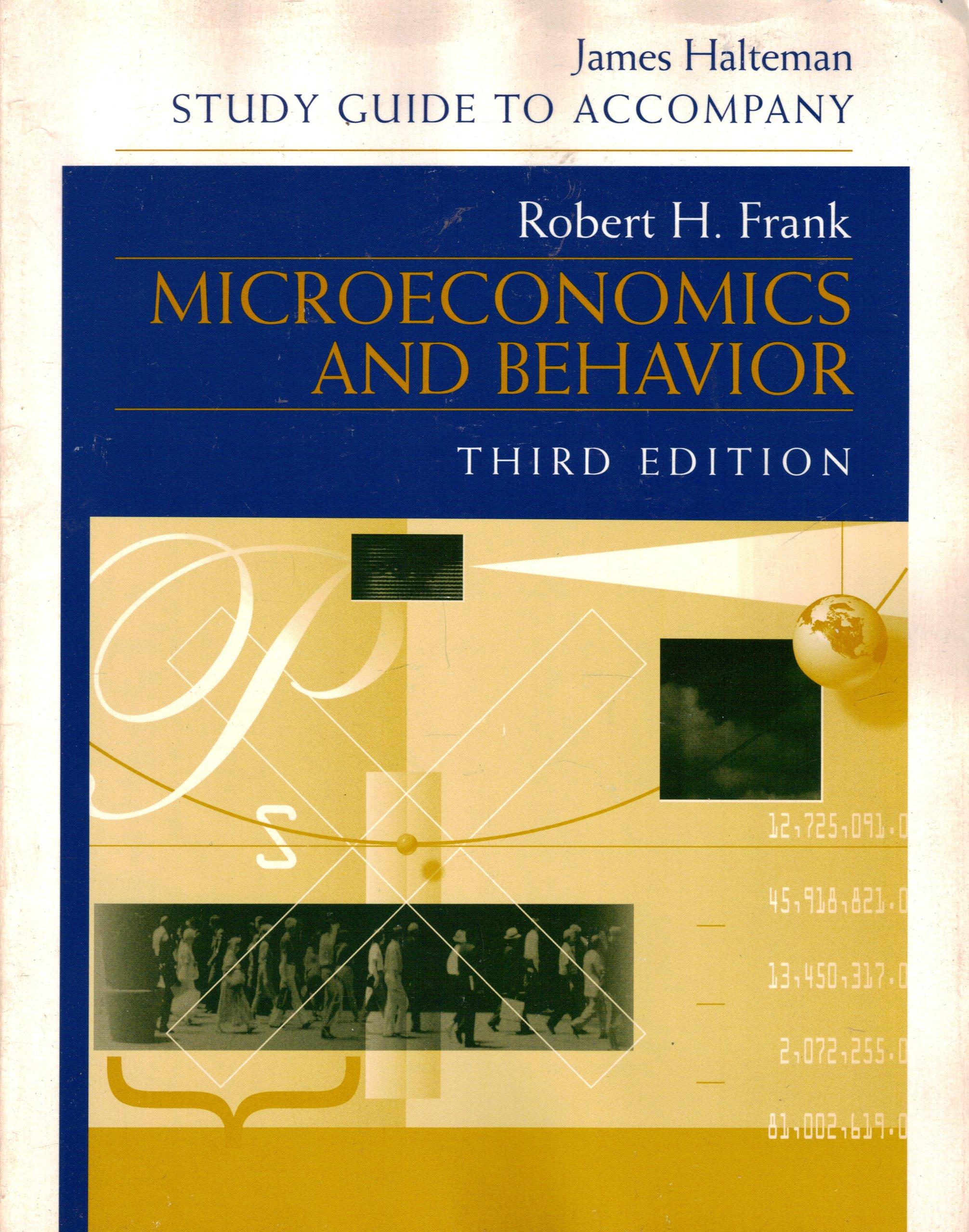Microeconomics and Behavior: Amazon.co.uk: James Halteman: 9780070218949:  Books