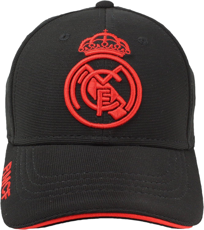 Real Madrid FC Gorra Adulto Producto Oficial Negra Rojo 2018/2019 ...