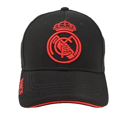 Real Madrid FC Gorra Adulto Producto Oficial Negra Rojo 2018 2019 ... eb569f78f5c