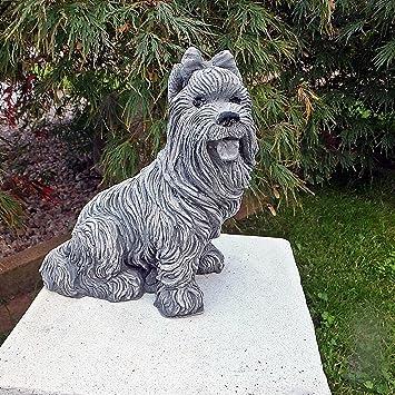 e6164b2bc8c41 Statue chien-petit chien statue de jardin yorkshire massif en pierre pour  décoration de jardin