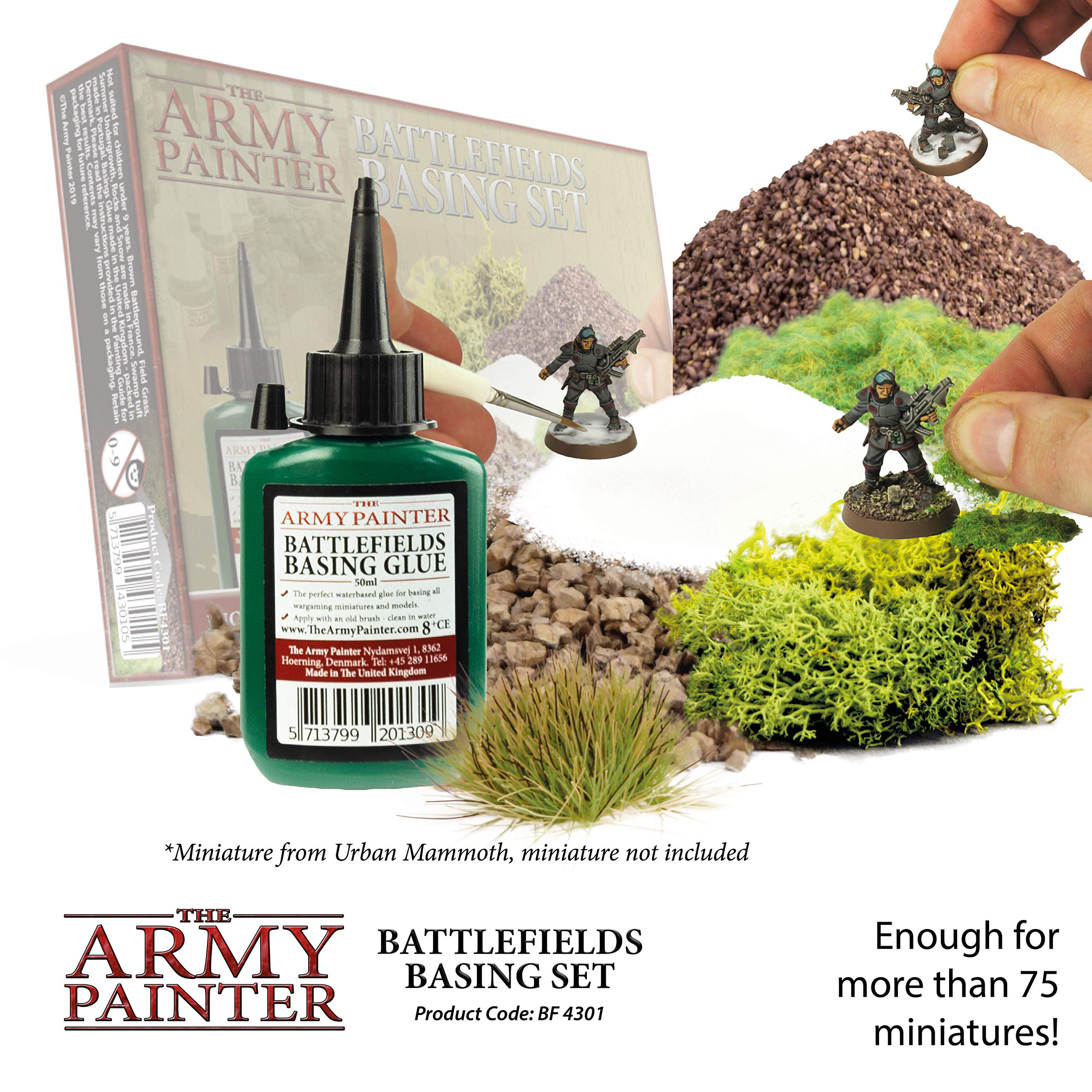 The Army Painter Battlefields Basing Set - Wargamers Terrain Model Kit for Miniature Bases and Dioramas with Landscape Rocks, Scenic Sand, Static Grass, Grass Tufts and Free Basing Glue by The Army Painter (Image #3)