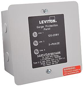 Leviton 51120-3 3-Phase Panel Protector, 120/208-Volt