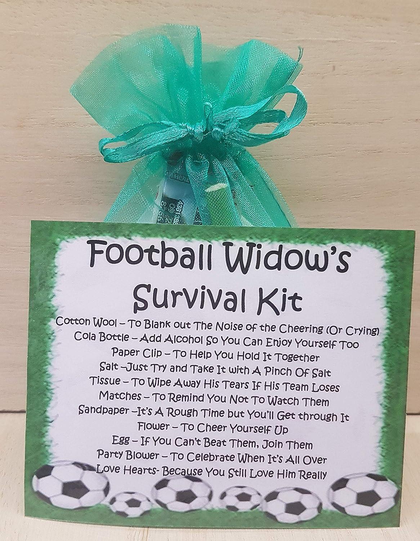 A Unique Fun Novelty Gift /& Keepsake ! Football Widows Survival Kit