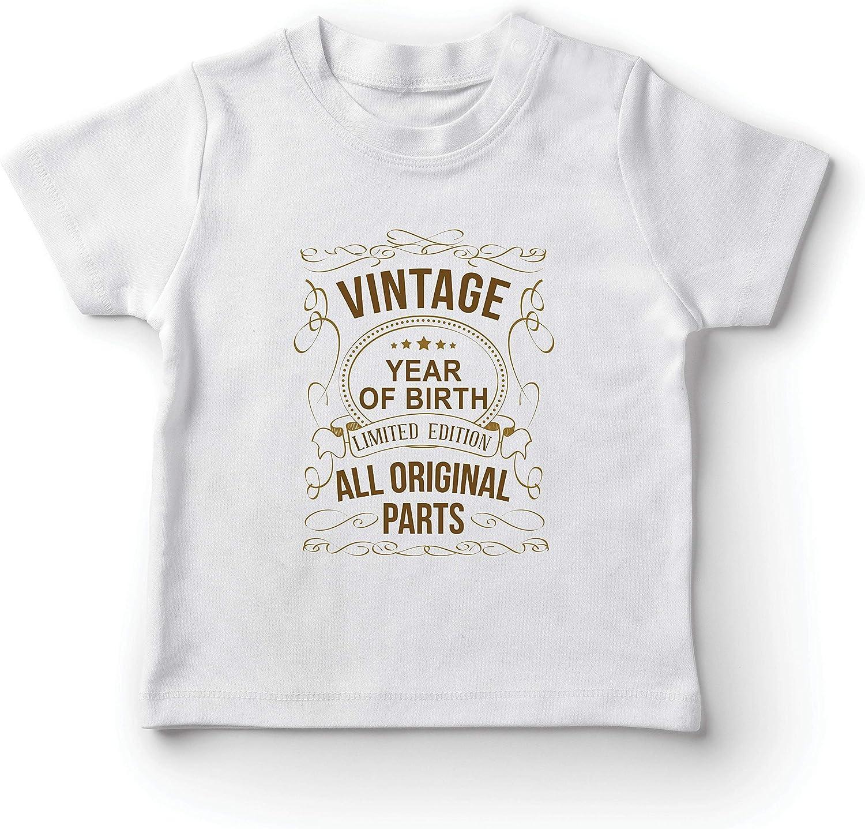 lepni.me Camiseta para Niño/Niña Año Personalizado Todas Las Piezas Originales Regalo de cumpleaños Vintage
