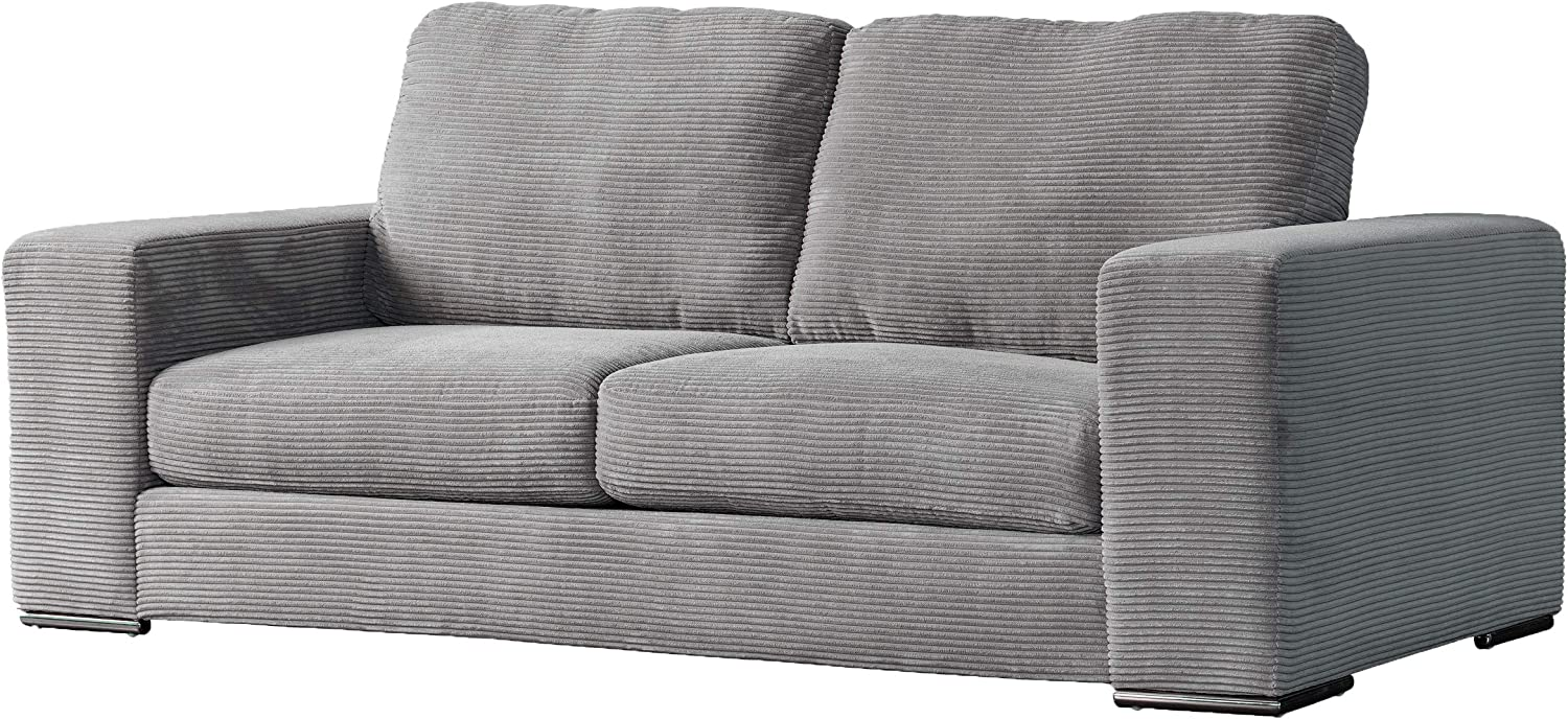 acanva luxury modern corduroy extra deep living room sofa 89 w couch light grey