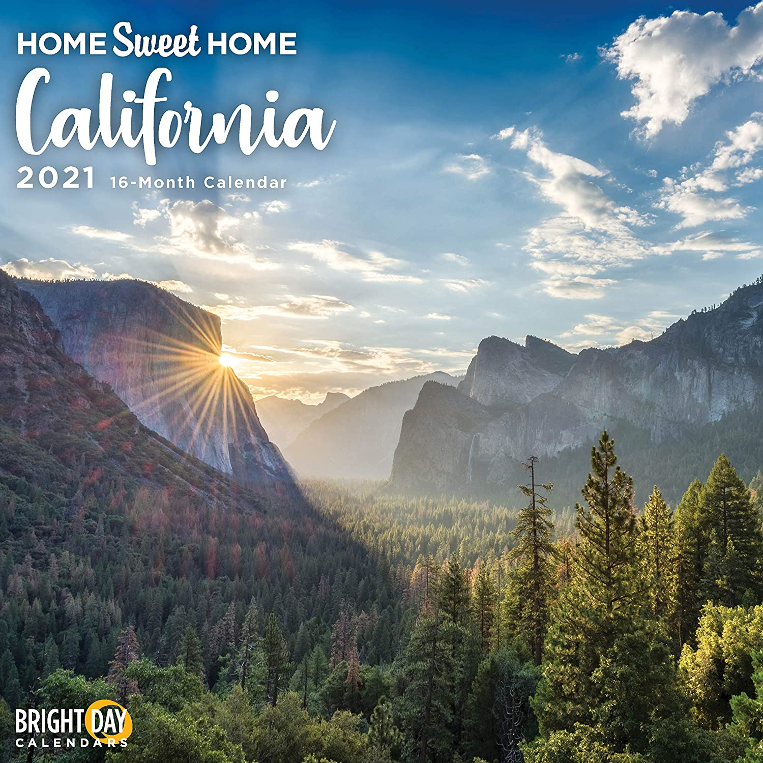 2021 Home Sweet Home California Wall Calendar by Bright Day, 12 x 12 Inch, Los Angeles Hollywood Beaches USA Hometown Travel Destination