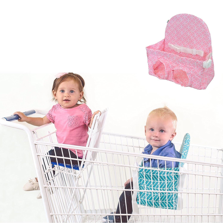 Carrito de la compra asiento para 2 nd niño - Cuaderno de dibujo (rosa cochecito banco. Hasta 40 libras. Ideal para Gemelos o 2 niños pequeños.