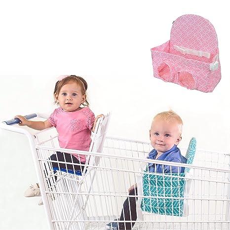 Carrito de la compra asiento para 2 nd niño – Cuaderno de dibujo (rosa cochecito
