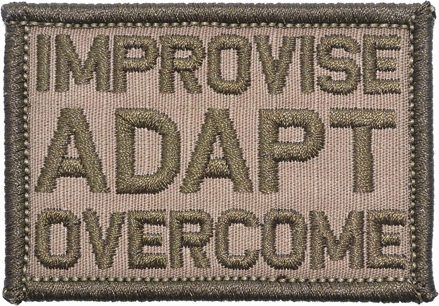 Olive Drab 2x3 Morale Patch Improvise Adapt Overcome