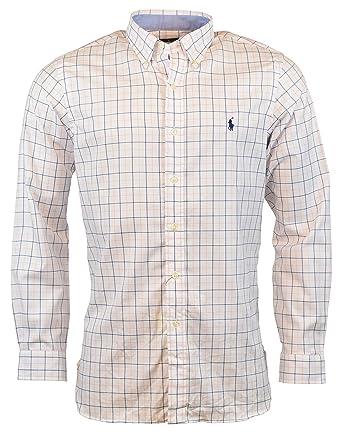 fc6bdaa59 Polo Ralph Lauren Men s Classic Fit Cotton Stretch Button-Front Shirt at  Amazon Men s Clothing store