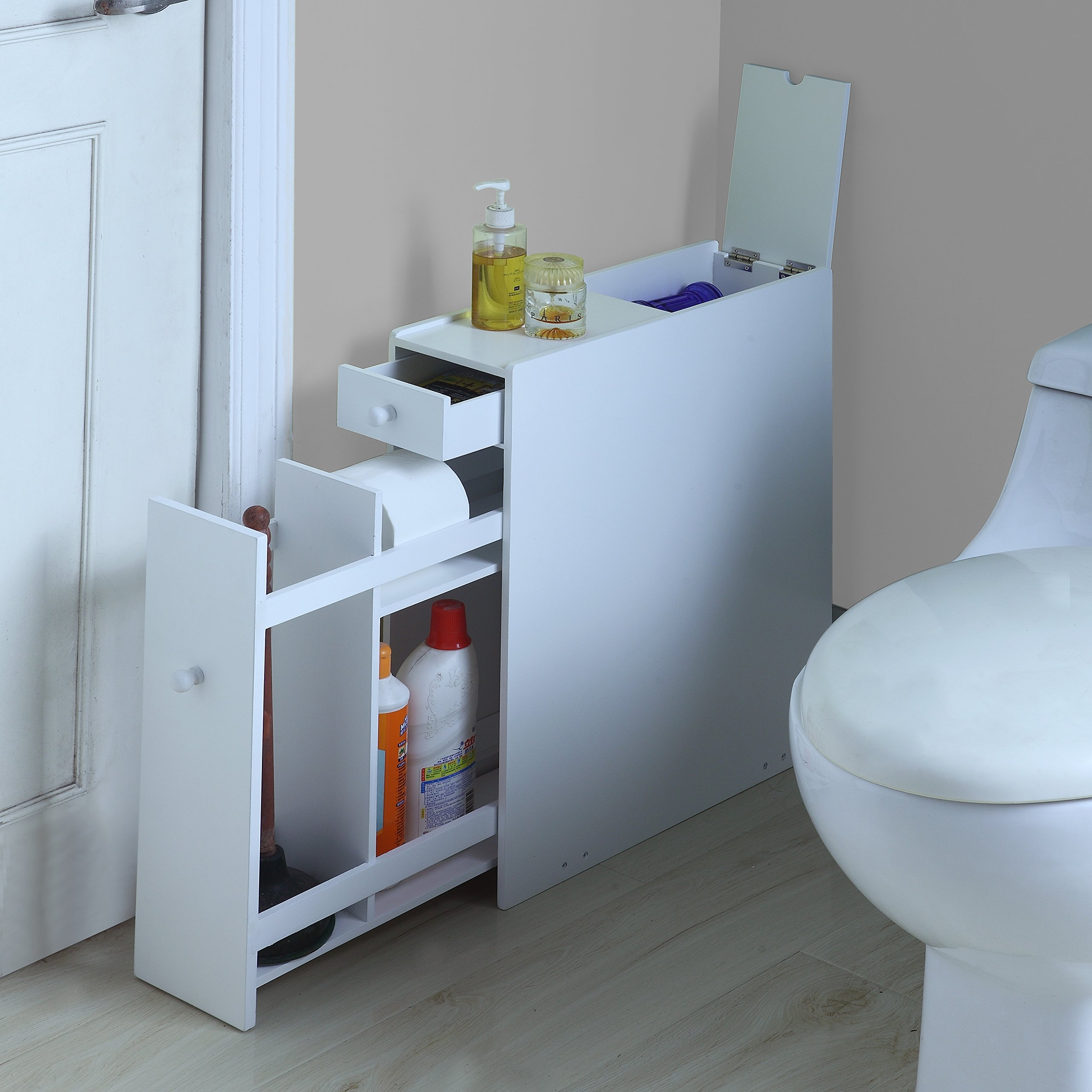 Proman Products Bathroom Floor Cabinet Wood in Pure White by Proman Products (Image #3)