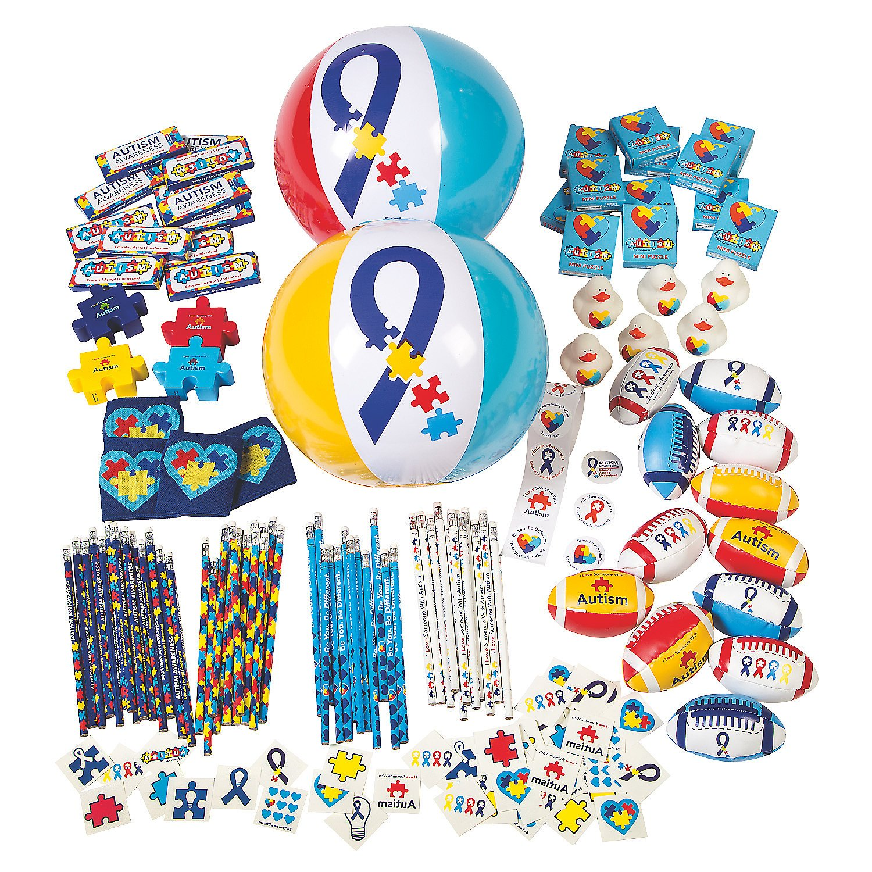 Fun Express - Autism Awareness Assortment (250pc) - Toys - Assortments - 250Pc Assortments - 250 Pieces by Fun Express