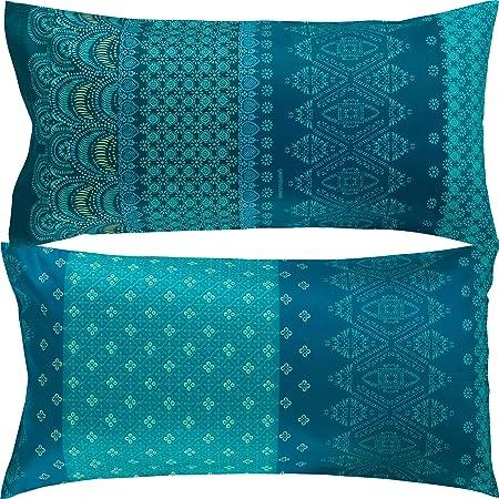 Bassetti Funda de Cojín, algodón, Azul, 40 x 80 cm: Bassetti: Amazon.es: Hogar