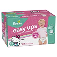 Deals on 124CT Pampers Easy Ups Training Pants Disposable Diapers Girls
