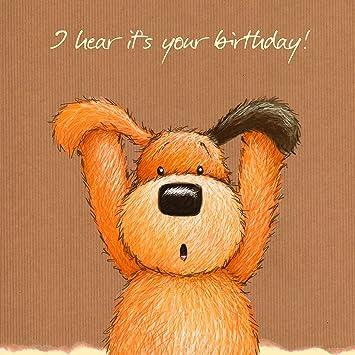 Twizler Popcorn The Bear Happy Birthday Card